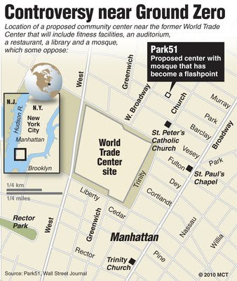 Wall Street Journal graphic of the proposed site.