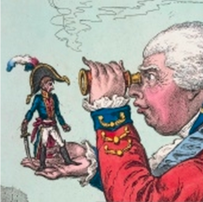 """Looking Through An Object..."" Illustration from Gulliver's Travels, Jonathan Swift, 1726"